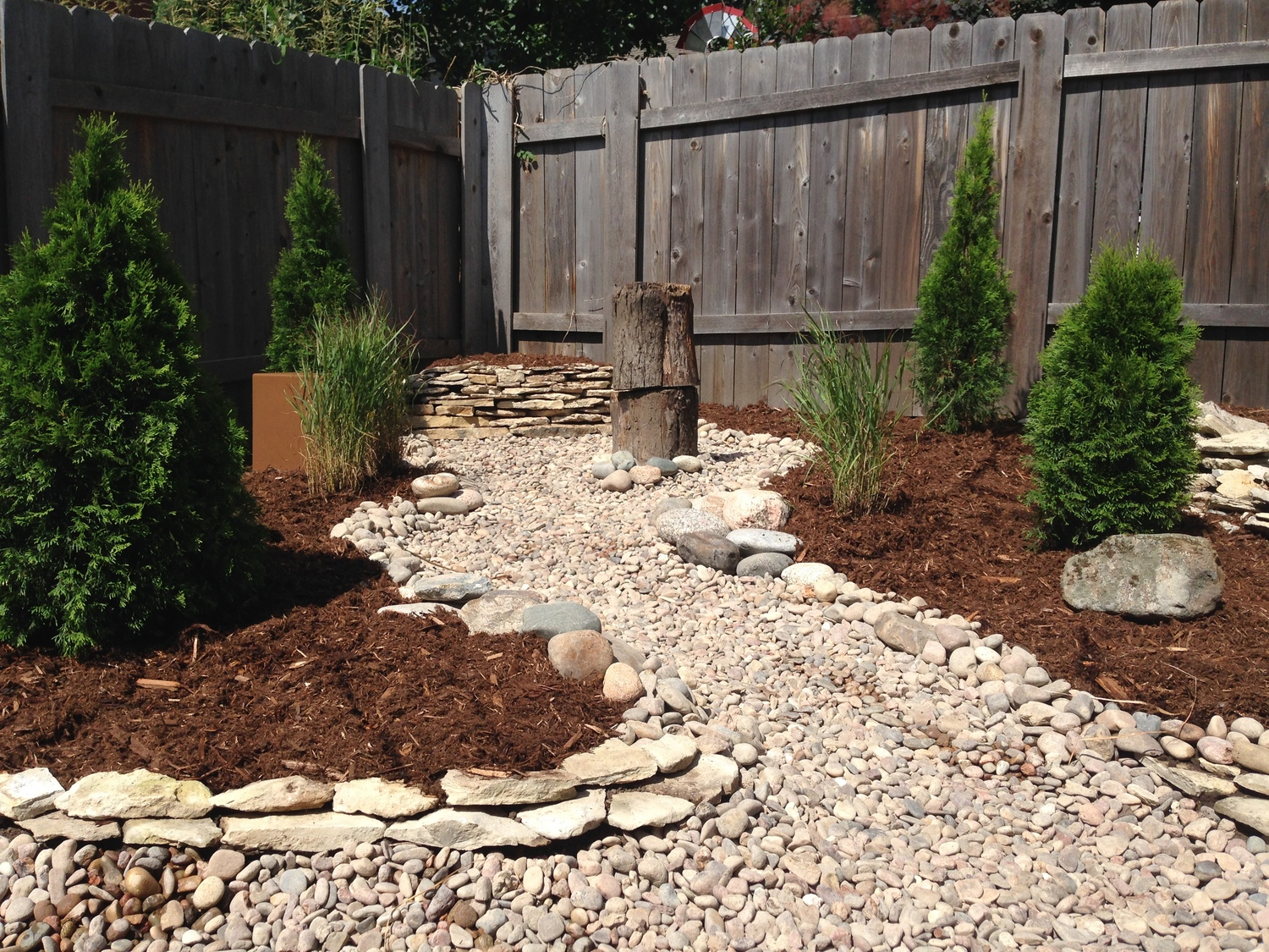 rock bed landscaping