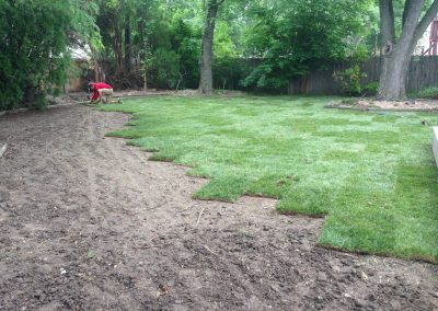 sodding large yard